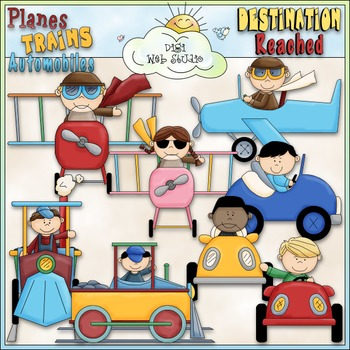 Planes, Trains & Autos Kids Clip Art - Transportation Clip