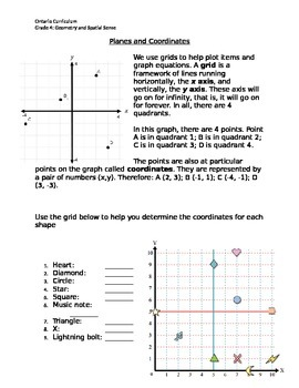 Planes and Coordinates