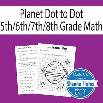 Planet Dot to Dot Plot, Ordered Pairs, Graphing, Fun Math