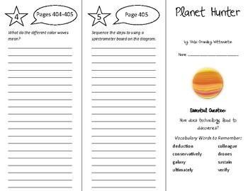 Planet Hunter Trifold - Wonders 6th Grade Unit 5 Week 4