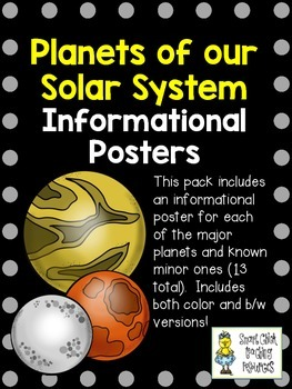 Planet Information Posters Pack ~ Set of 13 Informational