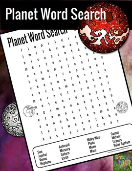 Planet Word Search Puzzle