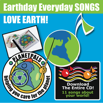 """Planetpals MUSIC CD """"We love the planet, everyone and ever"""