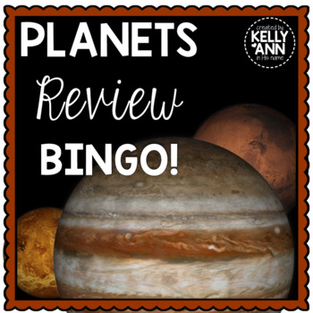 Solar System: Planets Review Bingo