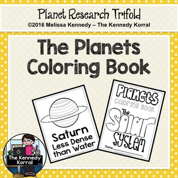 Planets Coloring Book {Space Research, Planets, Solar System}