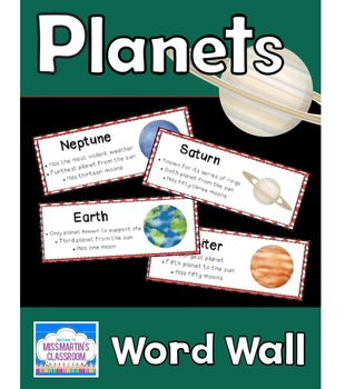 Planets: Science Vocabulary Word Wall