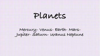 Planets Song- (Solar System)