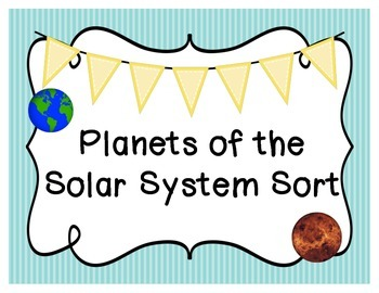 Planets of the Solar System Sort