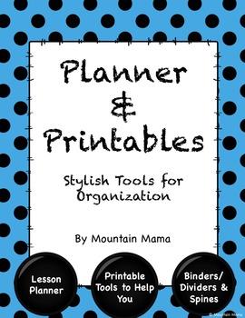Lesson Planner & Printables for Stylish Organization Turqu