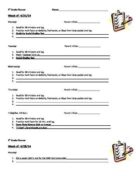 Planner Sheet