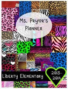 Planner with Animal Print Covers {Printable & Editable}