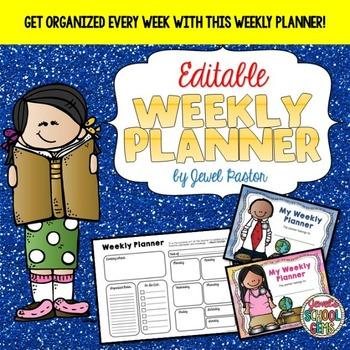Editable Weekly Planners