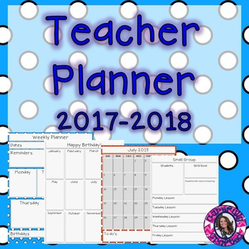 Teacher Planner 2016-2017 Polka Dot {Free for life updates}