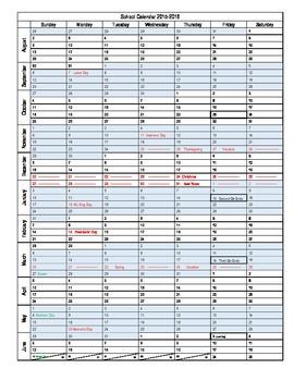 Planning Calendar Template 2015-2016