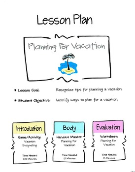 Planning For Vacations Lesson