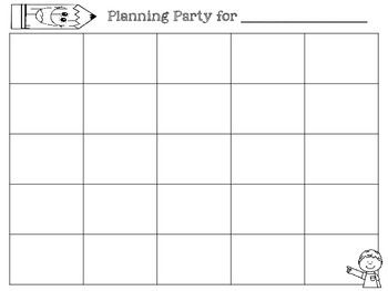 Planning Party Template