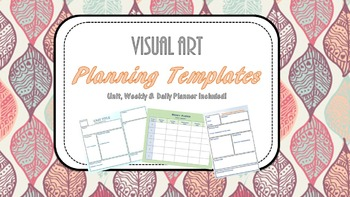 Planning Templates for Elective Teachers