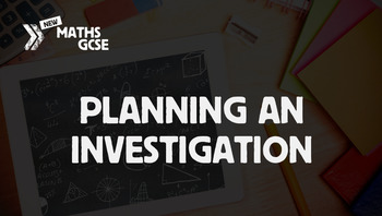 Planning an Investigation - Complete Lesson