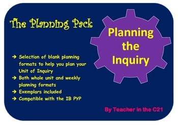 Planning the Inquiry – The Planning Pack