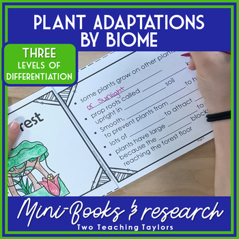 Plant Adaptations by Biome: Differentiated Mini-book