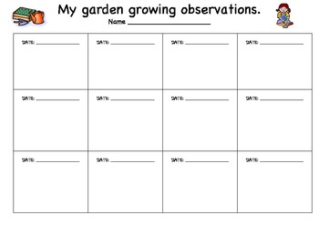 Plant Growing Observation Sheet