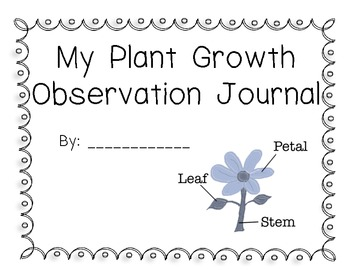 Plant Growth Observation Journal for Celery, Corn, and Swe