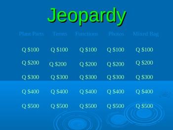 Plant Jeopardy