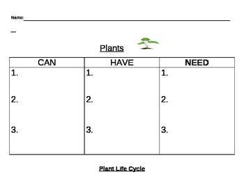 Plant Life Cycle Activities