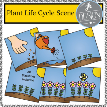 Plant Life Cycle Scene (JB Design Clip Art for Personal or