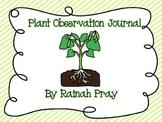 Plant Observation Log / Journal