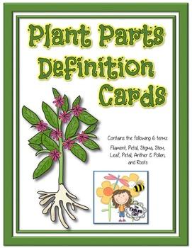 Plant Parts Definition Cards