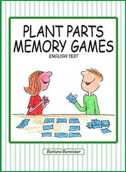 Plant Parts Memory Game BUNDLE