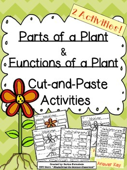 Plant Parts and Functions Cut and Paste Activities!