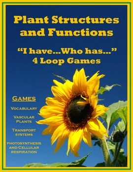 Plant Structures and Functions - Vocabulary & Review with