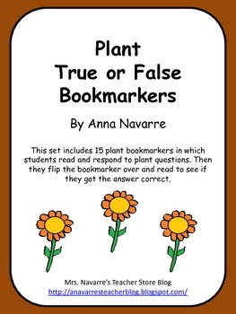 Plant True or False Bookmarkers