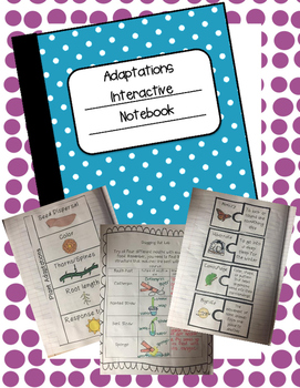 Plant and Animal Adaptations Interactive Notebook