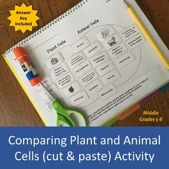 Comparing Plant and Animal Cells (cut & paste) Activity