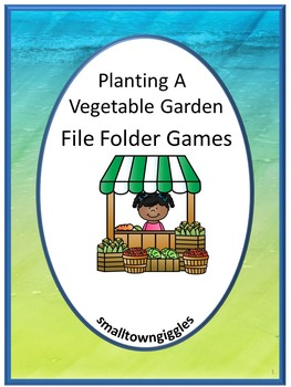 Vegetable Garden Folder Games File Folder Games Autism Spe