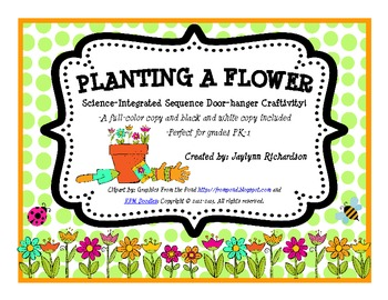 """""""Planting a Flower"""" Science-Integrated Sequence Doorhanger"""