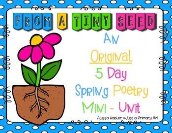 Planting flowers poem5 day original mini poetry unit - abo
