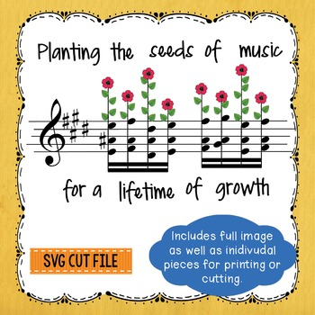 Planting the Seeds of Music Banner SVG PNG Silhouette Cric