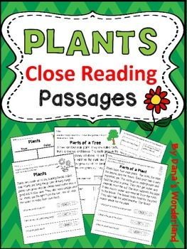 Plants Close Reading Passages and Activities