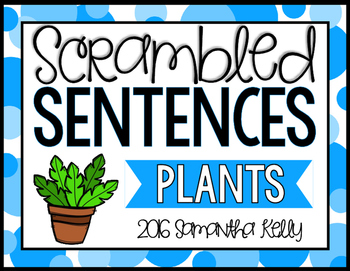 Plants Scrambled Sentence Station