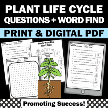 Plants Life Cycle No Prep Science Worksheets Vocabulary Wo