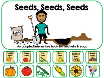 Plants & Seeds Adapted Interactive Book {Autism, Early Childhood}