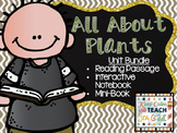 Plants Study Unit - Reading Passages, Interactive Notebook