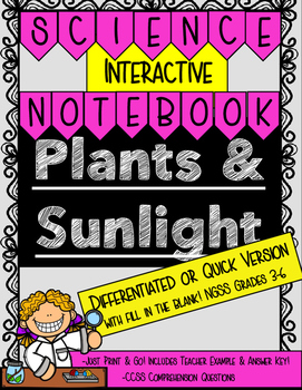 Plants & Sunlight Differentiated or Quick Version- Interac