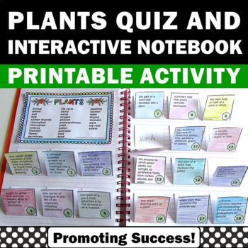Plants Interactive Notebook Craftivity Science Center Voca