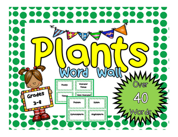 Plants Word Wall or Flash Cards!