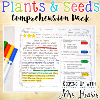 Plants and Seeds - Comprehension Pack
